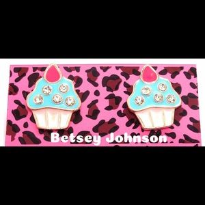Super Cute Betsy Johnson Cupcake earrings